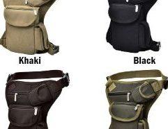 Green Drop Leg Bag - G-Bag - M20792 Men Military Tactical Travel Riding Motorcycle Bag Portable Waist Messenger Bag Casual Canvas Drop Thigh Leg Multi- Pouch