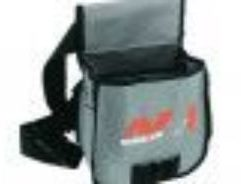 """Minelab Shell Pouch - 9999-0076 Pouch is Capable of Carrying a Large Number of Recovery Tools and Other Items. This is an Authentic Minelab Shell Tool Pouch with Carrying Strap. Grey & Black with Minelab Logo on the front. Pouch is capable of carrying a large number of recovery tools and other items like digger, recovery knife, hoe, pick, pin pointer, probe, etc. Cheaper imitation CANNOT use the official Minelab ML Logo. Perfect for stashing your Minelab tools and finds, this finds pouch will keep the bulk out of your pockets and allow you to keep swinging away while keeping your finds at your hip. Has holes at the bottom to allow water and sand to drain out. Great for the beach or general purpose detecting. Specifications: Dimensions : 12"""" x 7.5"""" x 6"""" Waist Size : 48"""" Max Weight : 0.5 lbs (0.23 kgs) Color : Grey & Black"""
