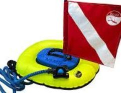 Nemo dive system with no spare batteries. Comes with Nemo backpack, and both dive flags.