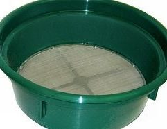 50 Mesh Classifying Sieve Save time and improve your recovery with this .05 inch Classifying Sieve! Our Sieves are used for sizing material down before processing through a sluice box or gold pan. Stack various mesh grades together for multi-tiered classification! Conveniently fits over the top of most 5-gallon buckets and constructed of high-impact plastic and stainless steel mesh.