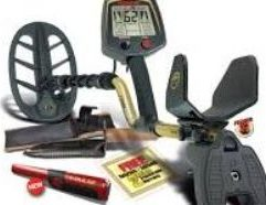 """FISHER F75 METAL DETECTOR WITH BOOST MODE COUPON, F-PULSE PINPOINTER & DIGGER - F75+GWP Fisher F75 with Boost Mode 