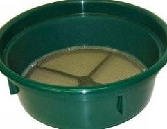4 Mesh Classifying Sieve Save time and improve your recovery with this 1/4 inch Classifying Sieve! Our Sieves are used for sizing material down before processing through a sluice box or gold pan. Stack various mesh grades together for multi-tiered classification! Conveniently fits over the top of most 5-gallon buckets and constructed of high-impact plastic and stainless steel mesh.