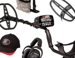 """AT Max 2-Coil Fall Special 2021 Get ready to take your detecting to the next level with the AT Max metal detector from Garrett. Capable of being submerged up to 10ft or 3m, you can get to the bottoms of creeks or river banks with ease. With Z-Lynk technology built in, you can hear your detector through the wireless MS-3 headphones. This special fall bundle straight from Garrett includes an extra, smaller Viper coil that measures 6"""" x 11"""" to get in smaller areas in addition to a camo pouch so you can get out detecting straight away. Whether you prefer hunting for relics, coins or jewelry, the AT Max will help find you some treasure. Includes AT Max metal detector with the standard 8.5""""x 11"""" DD searchoil and three FREE items: the 6""""x 11"""" DD Viper searchcoil (PN 2224000), a Viper searchcoil cover (PN 1613100), and the Garrett Camo Digger's Pouch (PN 1612900). Based on the U.S. manufacturer's suggested retail price of the three free items this is a savings of $181.85."""