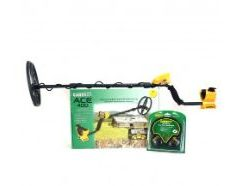 """Garrett ACE 400 Metal Detector The ACE 400 metal detector from Garrett is highly recommended for detectorists looking to find coins, jewelry, relics or even competing in treasure hunting events. The ACE 400 metal detector includes a submersible search coil that will even search the edges of a lake, pond or any other watery, swampy area. This metal detector features advanced settings including Digital Target ID and Frequency Adjust to help you dig more treasure and less trash. This detector also features the Iron Audio button to quickly listen in on any iron targets you have eliminated to make sure you don't miss a single treasure. Selection Modes: Zero Discrimination (All metal) Jewelry Mode Custom Mode (Save your notch selection) Relics Mode Coins Mode Pinpoint Mode (When Pinpoint button is pressed) Product highlights Total Weight: 2.9 lbs (1.32 kgs) Frequency: 10 kHz Frequency Warranty: 2 Year Limited Warranty Digital Target ID: Scale of 0 to 99 Audio: Three Distinctive Tones Based on Metal Type and Conductivity Discrimination Control: Modify Discrimination Patterns by Eliminating Individual Notches Iron Audio™: Hear Iron Targets That Have Been Discriminated Against Coin Depth Indicator: 2"""", 4"""", 6"""" & 8"""" Depth Indicators"""