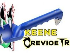 Keene Crevice Trowel Keene's Crevice Trowel is the ultimate, must-have tool for all of your heavy-duty prospecting and detecting need plus so much more! An ideal companion for camping excursions and indispensible for the home gardener! The KCT is the strongest, ground penetrating, crevicing tool and trowel on the market. Features a non-marring crevice hook perfect for metal detecting, nugget hunting, coin popping, bedrock gold retrieval, ground breaking, recovery, etc. • Can handle 100 plus pounds of applied pushing force where other trowels typically break or snap at 10 to 30 pounds. • Includes a removable steel insert tip for ripping and piercing through material. • Easily hacks through hard ground with the Keene Claw. • Perfect for the home garden enthusiast especially when planting in flowerbeds and vegetable gardens. • American durability you can depend on, proudly made in the U.S.A. Dimensions: 14 inches long x 3.5 inches wide x 3 inches deep (including claw) Weighs only 5 ounces.